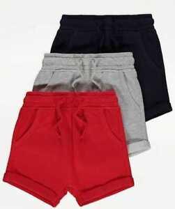 Ex Store Boys Kids PE Fleece Shorts Elasticated Running Gym Jogging Pockets
