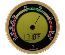 Caliber IVR 4R Gold Round Digital Hygrometer & Thermometer - 1133