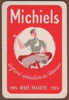 Playing Cards 1 Single Card Old Vintage MICHIELS Advertising Art MAN TAILORING 1