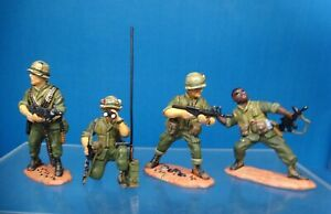 king &country VN06 54mm Vietnam U.S marines 4 figs patrol in action 1999 Preoop