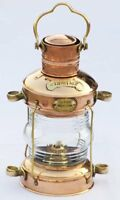 Nautical Brass & Copper Polished Anchor Lantern Hanging Lamp Decorative Home
