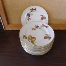 Royal Worcester EVESHAM Gold China  salad  plates