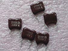 10 x 2000pf 300v condensateurs