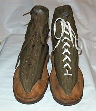 Vintage 1940s JJ Chabrat WWII French Military Ice Snow Boots Sz.57 Cleats France