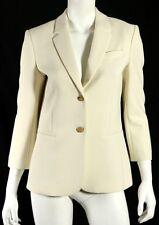 THE ROW $1,590 NWT Winter White Poly Techno LEFMAN Blazer Jacket 10