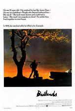 BADLANDS Movie POSTER PRINT 27x40 Martin Sheen Sissy Spacek Warren Oates
