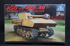 XT078 ITALERI 1/35 maquette tank char 355 RSO with PAK-40 German S.P. Anti tank