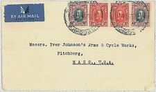 POSTAL HISTORY -  SOUTHERN RHODESIA : airmail cover to USA 1937