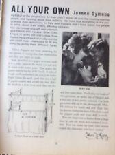 J1j Ephemera 1960s Article All Your Own Joanne Symons