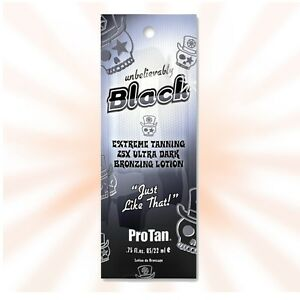 PRO TAN UNBELIEVABLY BLACK BRONZER SUNBED TANNING ACCELERATOR LOTION TRIAL SIZE