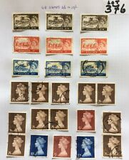 GB High Value Queen Elizabeth II Stamps 2/6-5/- & 10/- On A Album Page (Lot 376)
