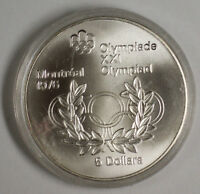 1974 Canada RCM 5 Dollar Silver 1976 Montreal Olympic Games Silver Coin