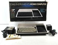 1982 TEXAS INSTRUMENTS HOME COMPUTER TI-99/4A W/ SPEECH SYNTHESIZER AND MANUALS