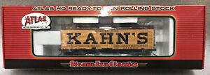 Atlas 6124-1 HO 36` Wood Reefer Car KAHN'S Dressed beef Road#1093 NOS (11E)