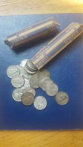 2 rolls 80 pc 35% silver war nickels 1942-1945 PDS