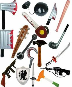 Kids Blow Up Inflatable Swords Hammer Childs Party Toys Book Week Day Accessory