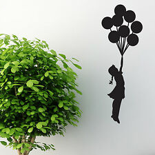 BANKSY pegatinas de pared Globo Estilo Girl Decal comillas palabras