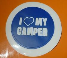 I Love My Camper Tax Disc and Permit Holder Re-Usable VW Bongo Hymer Fiat Blue
