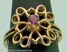 LOVELY ESTATE PINK SAPPHIRE AVON STERLING SILVER BAND RING SIZE 7.25