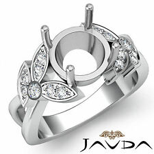 Diamond women's Designer Engagement Ring Platinum 950 0.3Ct Round Semi Mount