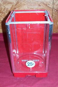 Old Gum Candy Nut Machine Plastic Top Topper Parts Vintage 25 Cent Quarter Upper