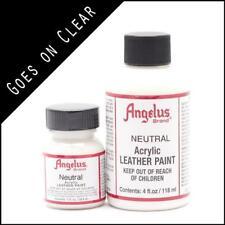 Angelus Acrylic Leather Paint Neutral 1 oz Bottle Colour f Shoes/Sneakers/Jacket