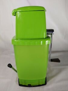 Vintage Retro Spring Green Swing-A-Away Ice Crusher - Rare Color! Complete