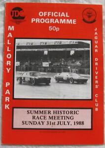 MALLORY PARK 31 Jul 1988 Summer Historic Race Meeting Official Programme