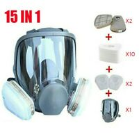 Full Face Gas Mask Painting Spraying Respirator w/Filters for 6800 Facepiece US