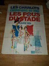 Affiche de cinéma d'époque du film: LES FOUS DU STADE de 1972 (120x160cm)