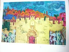 Eliezer Weishoff Lithograph Signed - Lion Gate Jerusalem From PRIVATE COLLECTION