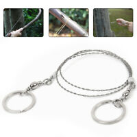 Outdoor Survival Wire Saw Hand Pocket Steel Chain Saw for Camping Hiking Hunting