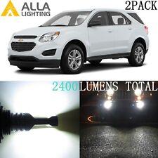 Alla Lighting 6000K 5202 LED Fog Light Bulb Driving Lamp for Chevy,Super White