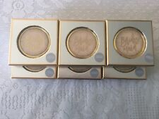 New listing (Set of 6) Bridesmaid Wedding Gifts Pink Gold Tone Mirror Compact