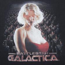 BATTLESTAR GALACTICA Cylon Number Six LARGE T-SHIRT sci-fi science fiction