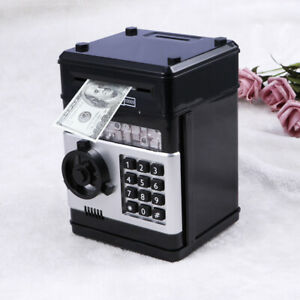 Electronic Password Deposit Box Mini Voice ATM Piggy Bank Cash Coin Money Saving