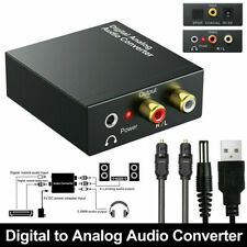 Optical Coaxial Toslink Digital to Analog Audio Converter Adapter RCA 3.5 mm