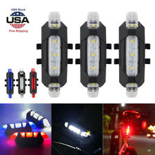 3x LED USB Rechargeable Bike Tail Light Bicycle Safety Cycling Warning Rear Lamp