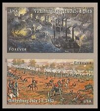 US 4787-4788 4788a Civil War 1863 forever vert pair set MNH 2013