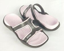 Crocs Serena Slides Sandals Flip Flops 6 US 36 EU Brown Pink