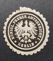 Königl. Preuss. Amtsgericht Berlin I Siegelmarke Vignette (7698-2)