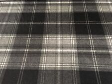Ralph Lauren Wool Upholstery Fabric- Wightwick Plaid Charcoal 4.85 yd LCF64442F