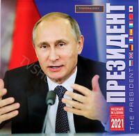 Wladimir Putin 2021 Wall Calendar kalender Putin 8 Sprachen Wandkalender RUSSIA