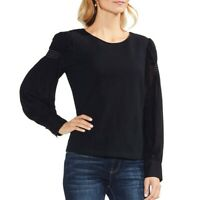 VINCE CAMUTO NEW Women's Smocked-shoulder Blouse Shirt Top TEDO
