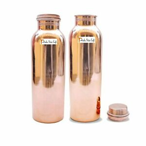 Reines Kupfer Yoga Wasserflasche 900 ML Jeder Set Mit 2
