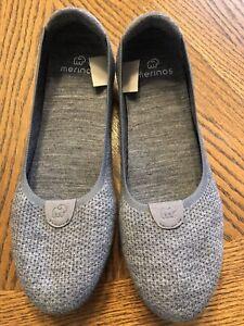 Merinos Slip Ons Gray Flats New Size 9.5