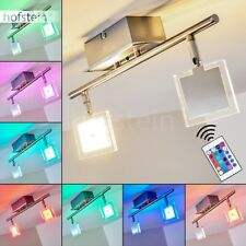 Plafonnier LED Changeur de couleur Lampe suspension Lustre Luminaire Métal/Verre