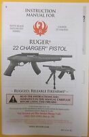 New RUGER 10/22 CHARGER PISTOL 11/14 owners manual instruction booklet magazine