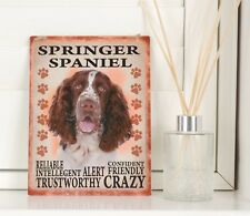 New Springer Spaniel Dog Breed Sign Shabby Chic Retro Vintage Hanging Plaque