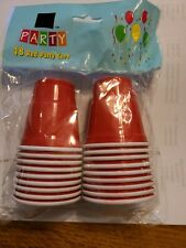 Disposable Shot Glasses - Mini Party Cups - 18 count Plastic Red solo cup